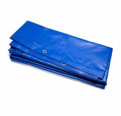 PVC Professional Ground Sheet 3.5m x 6.0m blue 570gsm